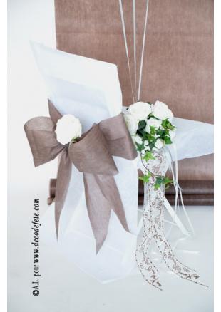 6 noeuds chocolat pour housse de chaise. Black Bedroom Furniture Sets. Home Design Ideas