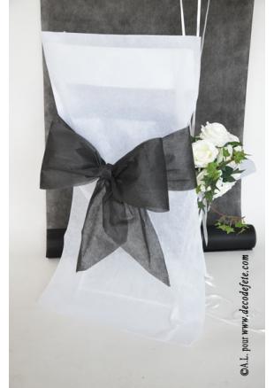 6 noeuds noirs pour housse de chaise. Black Bedroom Furniture Sets. Home Design Ideas