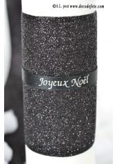 5M Ruban noir paillette 10 cm