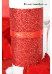 5M ruban rouge paillette 10 cm