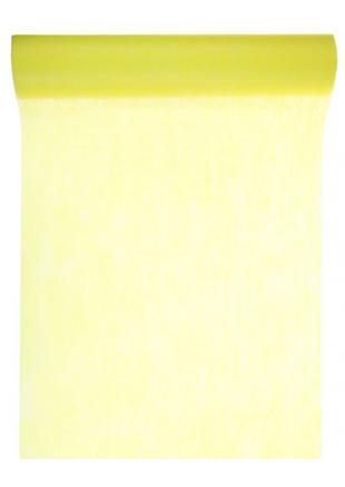 10m chemin de table eco jaune for Chemin de table jaune
