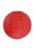2 Lanternes ROUGE 30 cm