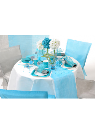 10m chemin de table eco turquoise. Black Bedroom Furniture Sets. Home Design Ideas