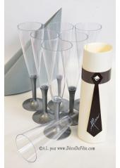 10 Flutes à champagne argent