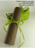 50g Véritable raphia vert anis