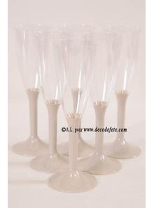 10 Flutes à champagne caramel