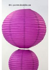 1 Lanterne AUBERGINE 50 cm