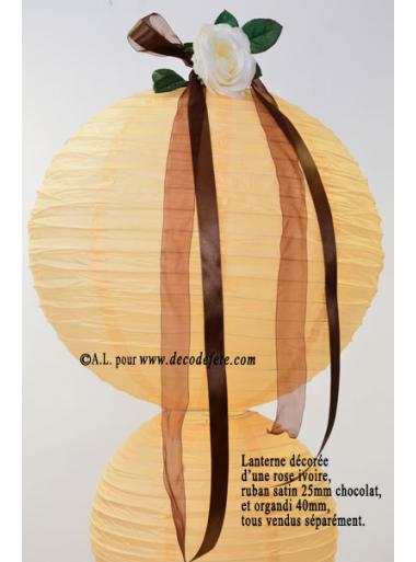 1 Lanterne IVOIRE  50 cm