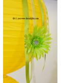 1 Lanterne JAUNE 50 cm