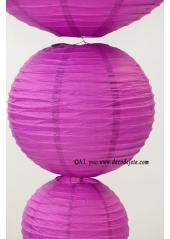 1 Lanterne AUBERGINE 35 cm