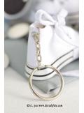 2 Basket porte clés blanc