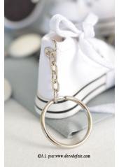 1 Basket porte clés blanc