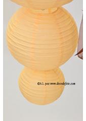 1 Lanterne IVOIRE 35 cm