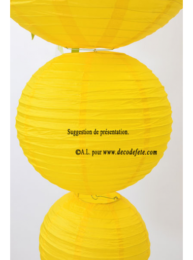 1 Lanterne JAUNE 30 cm