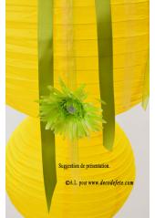 1 Lanterne JAUNE 35 cm