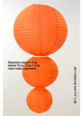2 Lanternes ORANGE 30 cm