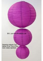 1 Lanterne AUBERGINE 25 cm