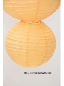 2 Lanternes IVOIRE 20 cm