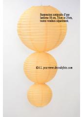 1 Lanterne IVOIRE 25 cm