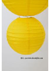 1 Lanterne JAUNE 25 cm