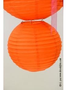 2 Lanternes ORANGE 20 cm