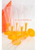 10 Flutes à champagne orange