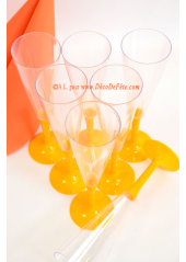 10 Flutes à champagne orange
