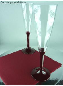 10 Flutes à champagne bordeaux