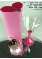 10 Verres à vin fushia