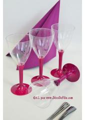 10 Verres à vin aubergine
