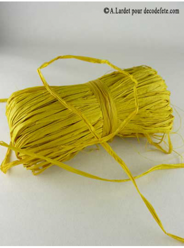 50g Véritable raphia jaune