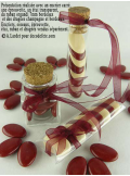 25m Ruban chocolat 9mm organdi