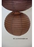 2 Lanternes CHOCOLAT 20 cm