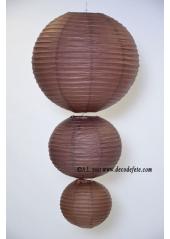 1 Lanterne CHOCOLAT 25 cm