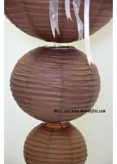 1 Lanterne CHOCOLAT 35 cm