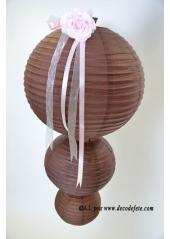 2 Lanternes CHOCOLAT 30 cm