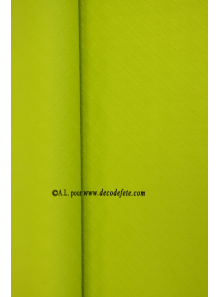 25 M Nappe papier EXTRA lime (vert anis)