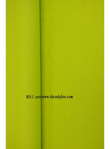 25 m nappe papier lime vert anis. Black Bedroom Furniture Sets. Home Design Ideas