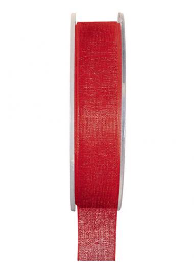 20m Ruban rouge 6mm organdi