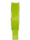 20m Ruban vert anis 6mm organdi