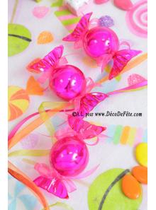6 Boites bonbon fushia