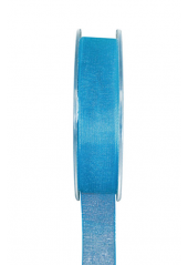 20m Ruban turquoise 6mm organdi