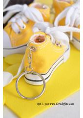 1 Basket porte clés jaune