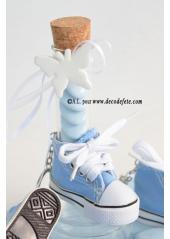 1 Basket porte clés bleu ciel