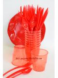 10 Verres plastic rouge
