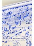 20M Tulle vive les mariés bleu roy