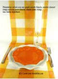 10 Assiettes à dessert fleur orange