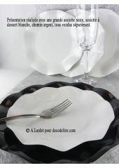 10 Assiettes à dessert fleur blanc