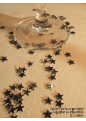 Confettis mini étoiles argent