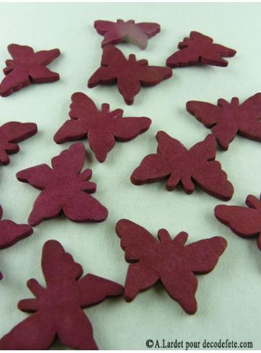 15 Papillons gomme bordeaux